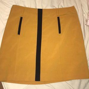 Size 14 business casual skirt; mustard yellow